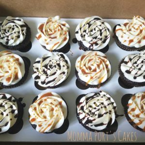 drizzled rosette cupcakes