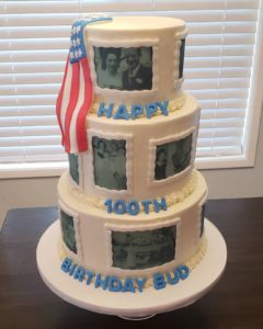 veterans 100th birthday cake