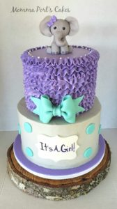 purple elephant cake
