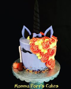 witchy unicorn cake