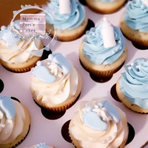 Baby shower boy cupcakes_