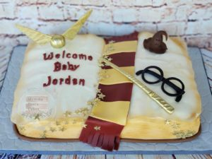 Harry potter book cake port